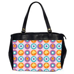 Chic Floral Pattern Office Handbags (2 Sides)  by creativemom
