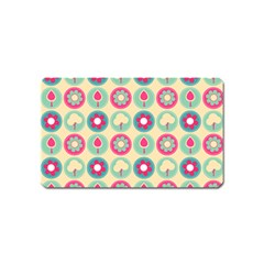Chic Floral Pattern Magnet (name Card) by creativemom