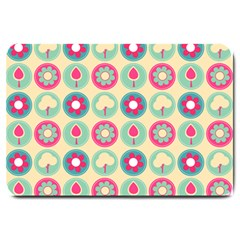 Chic Floral Pattern Large Doormat  by creativemom