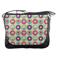 Chic Floral Pattern Messenger Bags by creativemom