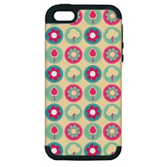 Chic Floral Pattern Apple Iphone 5 Hardshell Case (pc+silicone) by creativemom
