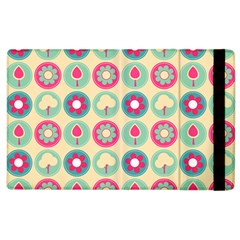 Chic Floral Pattern Apple Ipad 3/4 Flip Case by creativemom