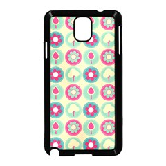 Chic Floral Pattern Samsung Galaxy Note 3 Neo Hardshell Case (black) by creativemom