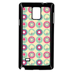 Chic Floral Pattern Samsung Galaxy Note 4 Case (black)
