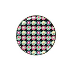 Chic Floral Pattern Hat Clip Ball Marker (10 Pack) by creativemom