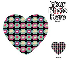 Chic Floral Pattern Multi-purpose Cards (heart)  by creativemom