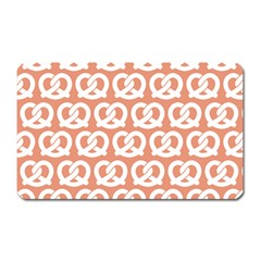 Salmon Pretzel Illustrations Pattern Magnet (rectangular) by creativemom