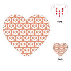 Salmon Pretzel Illustrations Pattern Playing Cards (heart)  by creativemom