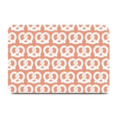 Salmon Pretzel Illustrations Pattern Plate Mats by creativemom