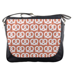 Salmon Pretzel Illustrations Pattern Messenger Bags by creativemom