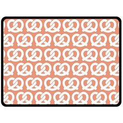 Salmon Pretzel Illustrations Pattern Double Sided Fleece Blanket (large)  by creativemom