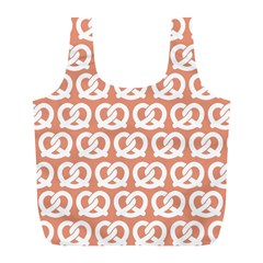 Salmon Pretzel Illustrations Pattern Full Print Recycle Bags (l)  by creativemom