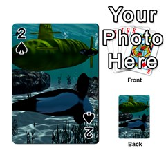 Submarine With Orca Playing Cards 54 Designs  by FantasyWorld7