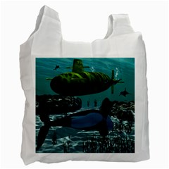 Submarine With Orca Recycle Bag (one Side) by FantasyWorld7