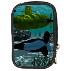 Submarine With Orca Compact Camera Cases by FantasyWorld7