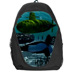Submarine With Orca Backpack Bag by FantasyWorld7
