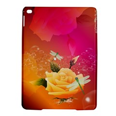 Beautiful Roses With Dragonflies Ipad Air 2 Hardshell Cases
