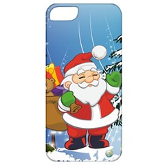 Funny Santa Claus In The Forrest Apple Iphone 5 Classic Hardshell Case by FantasyWorld7