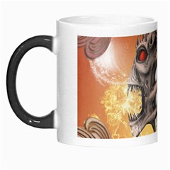 Soccer With Skull And Fire And Water Splash Morph Mugs by FantasyWorld7