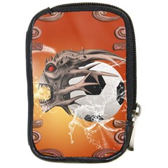 Soccer With Skull And Fire And Water Splash Compact Camera Cases by FantasyWorld7