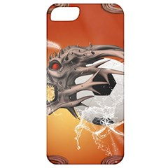 Soccer With Skull And Fire And Water Splash Apple Iphone 5 Classic Hardshell Case by FantasyWorld7