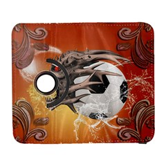 Soccer With Skull And Fire And Water Splash Samsung Galaxy S  Iii Flip 360 Case by FantasyWorld7