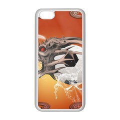 Soccer With Skull And Fire And Water Splash Apple Iphone 5c Seamless Case (white) by FantasyWorld7