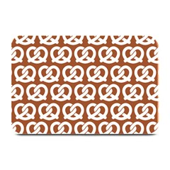 Brown Pretzel Illustrations Pattern Plate Mats