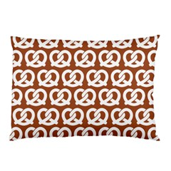 Brown Pretzel Illustrations Pattern Pillow Cases (two Sides)