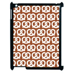Brown Pretzel Illustrations Pattern Apple Ipad 2 Case (black) by creativemom