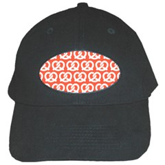Coral Pretzel Illustrations Pattern Black Cap by creativemom