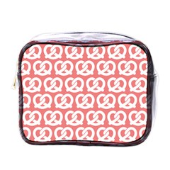 Chic Pretzel Illustrations Pattern Mini Toiletries Bags by creativemom