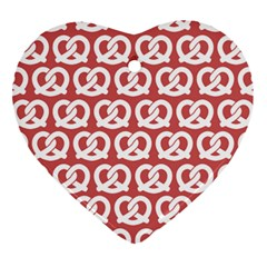 Trendy Pretzel Illustrations Pattern Heart Ornament (2 Sides) by creativemom