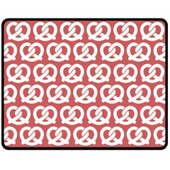Trendy Pretzel Illustrations Pattern Double Sided Fleece Blanket (medium)  by creativemom