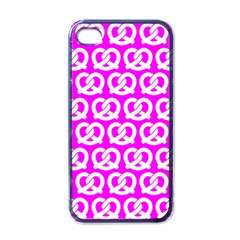 Pink Pretzel Illustrations Pattern Apple Iphone 4 Case (black) by creativemom