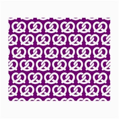 Purple Pretzel Illustrations Pattern Small Glasses Cloth (2 Side) by creativemom
