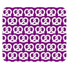 Purple Pretzel Illustrations Pattern Double Sided Flano Blanket (small)