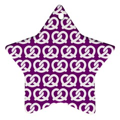 Purple Pretzel Illustrations Pattern Ornament (star)  by creativemom