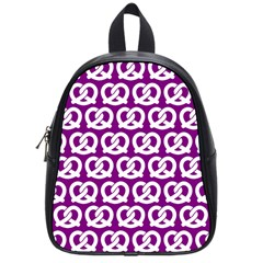 Purple Pretzel Illustrations Pattern School Bags (small)  by creativemom