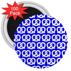 Blue Pretzel Illustrations Pattern 3  Magnets (100 Pack)