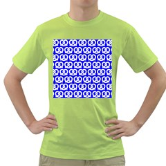 Blue Pretzel Illustrations Pattern Green T Shirt