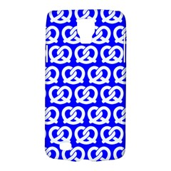 Blue Pretzel Illustrations Pattern Galaxy S4 Active by creativemom