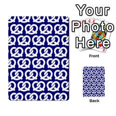 Navy Pretzel Illustrations Pattern Multi Purpose Cards (rectangle)  by creativemom