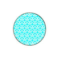 Aqua Pretzel Illustrations Pattern Hat Clip Ball Marker (4 Pack) by creativemom