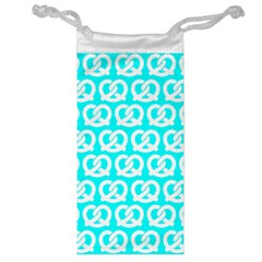 Aqua Pretzel Illustrations Pattern Jewelry Bags by creativemom