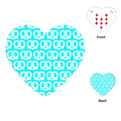 Aqua Pretzel Illustrations Pattern Playing Cards (heart)  by creativemom