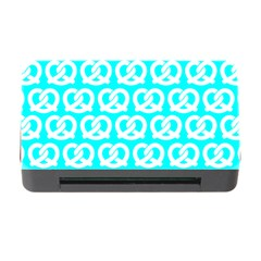 Aqua Pretzel Illustrations Pattern Memory Card Reader With Cf by creativemom