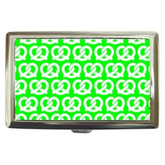 Neon Green Pretzel Illustrations Pattern Cigarette Money Cases by creativemom