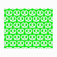 Neon Green Pretzel Illustrations Pattern Small Glasses Cloth (2 Side) by creativemom