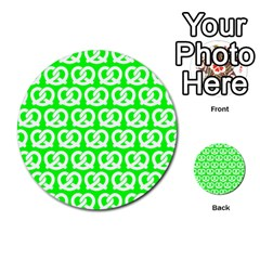 Neon Green Pretzel Illustrations Pattern Multi Purpose Cards (round)  by creativemom